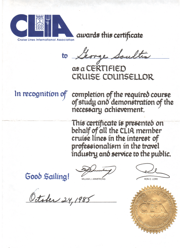 CLIA International Certificate