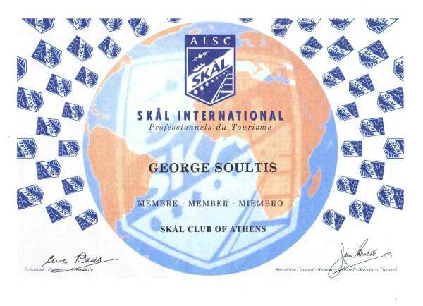 SKAL International Certificate